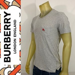 Burberry Monogram Pocket Cotton Tee Shirt